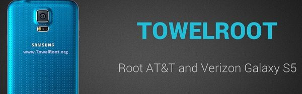 Towelroot apk download for one click root Samsung Galaxy S5 and Note edge.