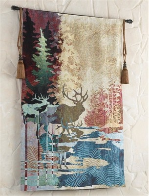 Tapestry Wall HangingWall HangingsBlack Forest DecorJacquard LoomPocono  MountainsMaster BedroomsGhostsCabin FeverElk