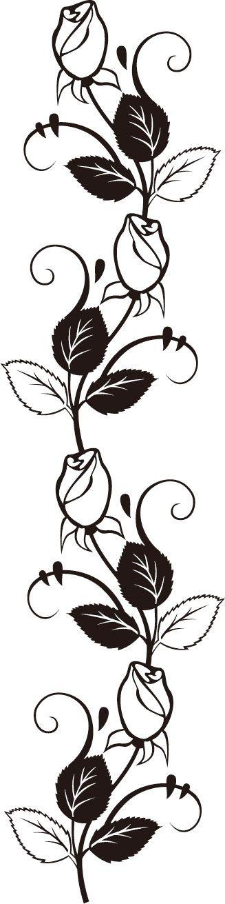 Украшение материал для линии розы - образец изображения