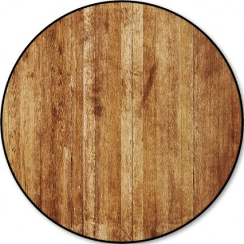 Old Wood Texture Round Rugs