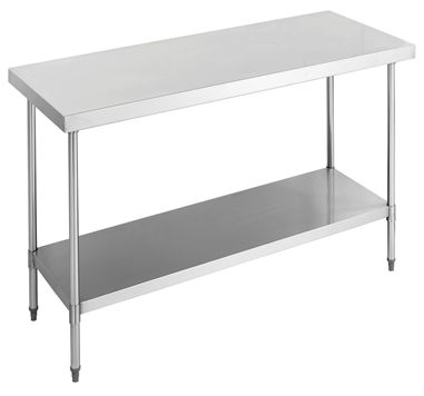 Flat Top SUS304 grade (18/8) Stainless Steel Bench Tops idea for commercial kitchen