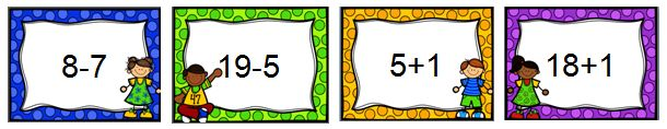 Ik heb een viertal powerpoints gemaakt, waarin de erbij- en erafsommen tot 10 en tot 20 aan bod komen. Zo kun je het digitale schoolbord inzetten om deze sommen te automatiseren.
