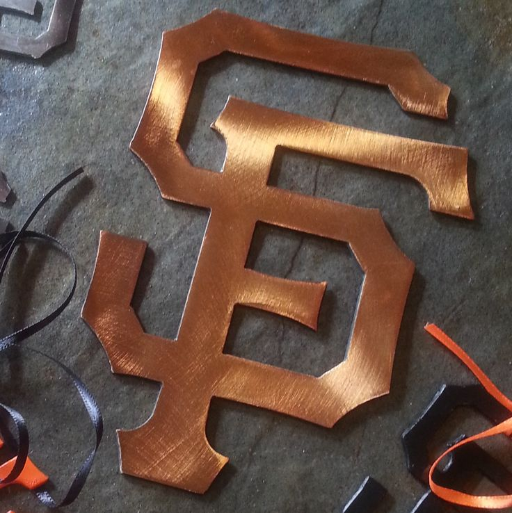 MLB SF Giants Small logo recycled steel CUSTOM by fttdesign on Etsy