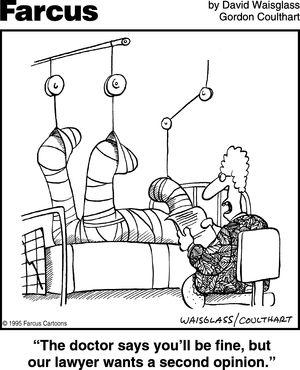 Farcus.  David Waisglass and Gordon Coulthart. (More Hospital Cartoons: pinterest.com/mediamed/hospital-cartoons).