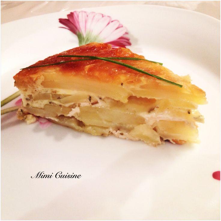 Tatin à ma façon Pommes de terre Camembert - Mimi Cuisine