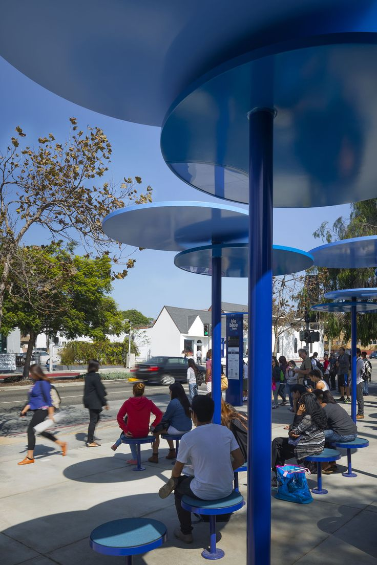 LOHA Lorcan O'Herlihy Architects, Lawrence Anderson · Big Blue Bus Stops · Divisare