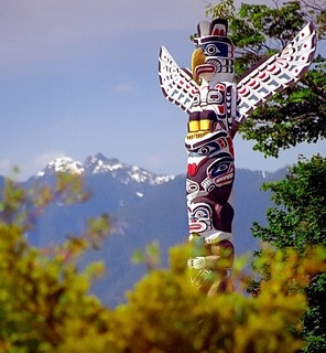 "Vancouver B.C. - Stanley Park ""Totem Poles"" by David Paul Ohmer, via Flickr"