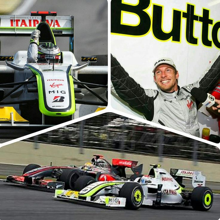 On This Day In F1 ~ Button Storms To World Championship.  Jensen Button stormed through the field from 14th to 5th in his Brawn Mercedes at the Brazilian Grand Prix on October 18, 2009 and fulfilled  his boyhood dream of winning the World Drivers Championship. #F1 #JensenButton #BrawnGP #OnThisDay