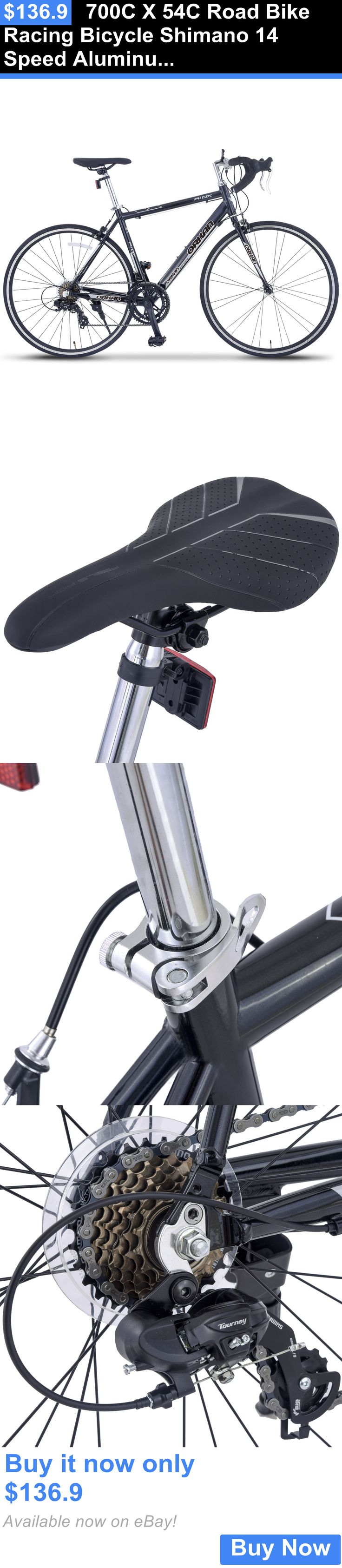 bicycles: 700C X 54C Road Bike Racing Bicycle Shimano 14 Speed Aluminum Frame Steel Fork BUY IT NOW ONLY: $136.9