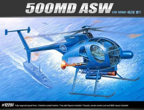 Hughes 500MD ASW. Academy, 1/48, injection, No.12251. Price: 7,19 GBP.