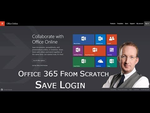 *Save Password and User Name for Office 365* Save your login details to Office 365, so that you don't have to enter account name and password: http://www.kalmstrom.com/Tips/Office-365-Course/Save-password.htm