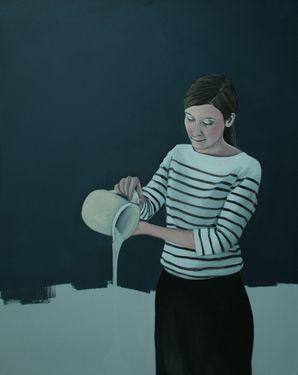 """Saatchi Art Artist Karoline Kroiß; Painting, """"Milk / Milchkanne EXHIBITION"""" #art"""