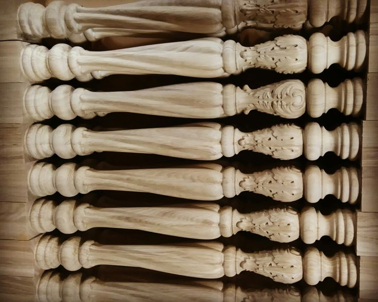 Stairway carved parts, balusters made to order. #balusters #carved #stair #custom #millwork #woodworking #renovation #historic #architectural #column