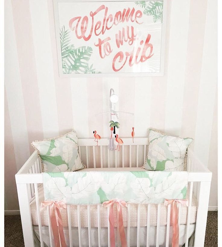 Welcome to my crib nursery art | Pink flamingo nursery | baby nursery | new baby | Lucky To Be In Love on Etsy https://www.etsy.com/listing/384579748/welcome-to-my-crib-wall-art?ref=shop_home_feat_4