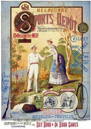 Melbourne Sports Depot c.1885  http://www.vintagevenus.com.au/vintage/reprints/info/SLR126.htm