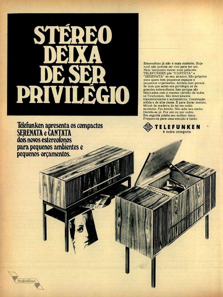 Aparelhpo de som Telefunken, #Brasil #anos60 #retro