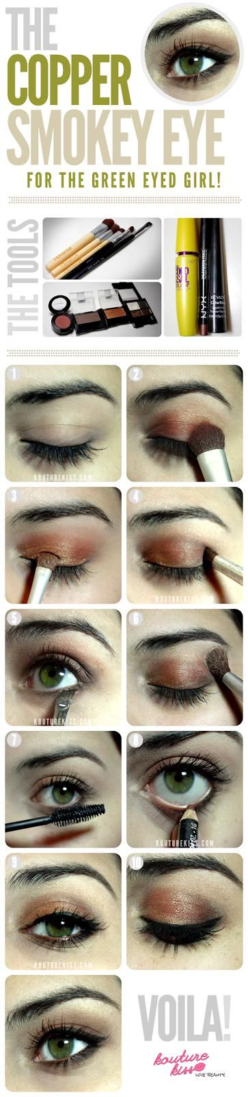 The Copper Smokey Eye For The Green Eyed Girl