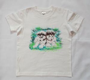 Koszulka lub bluzka ręcznie malowana - Husky