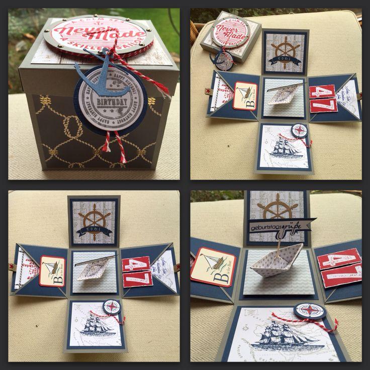 Geburtstagskarte (Explosion Box)