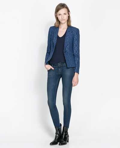 Image 1 of JACQUARD PATTERN BLAZER from Zara