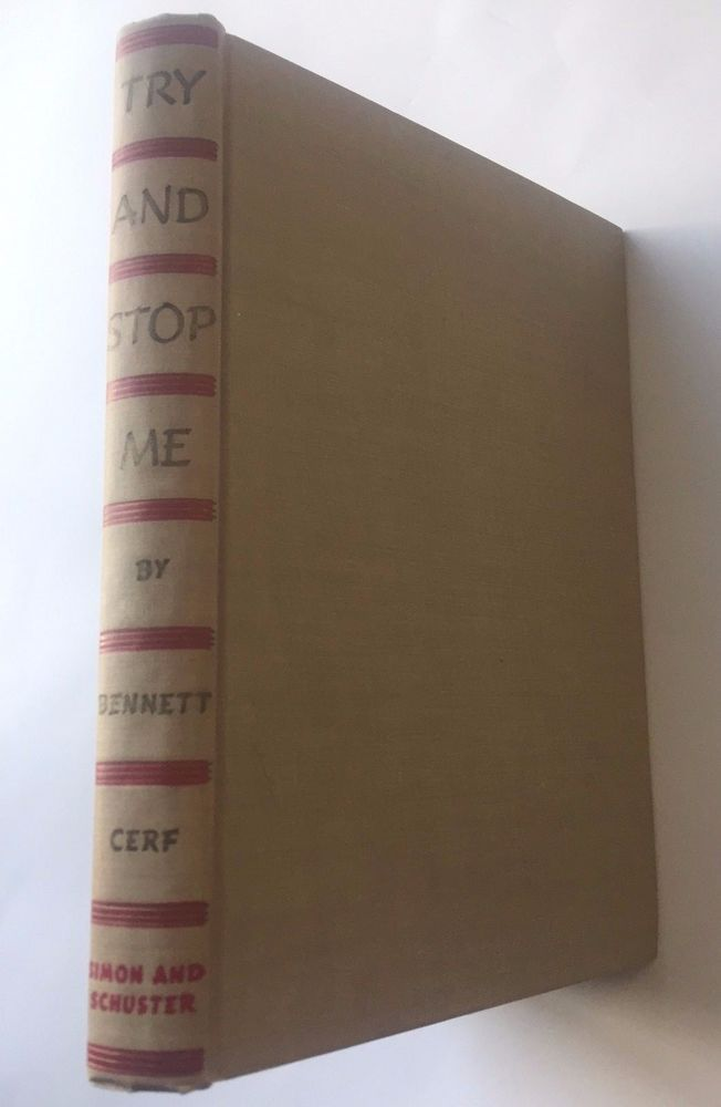 Try and Stop Me by Bennett Cerf (Hardcover) Simon & Schuster, 1945