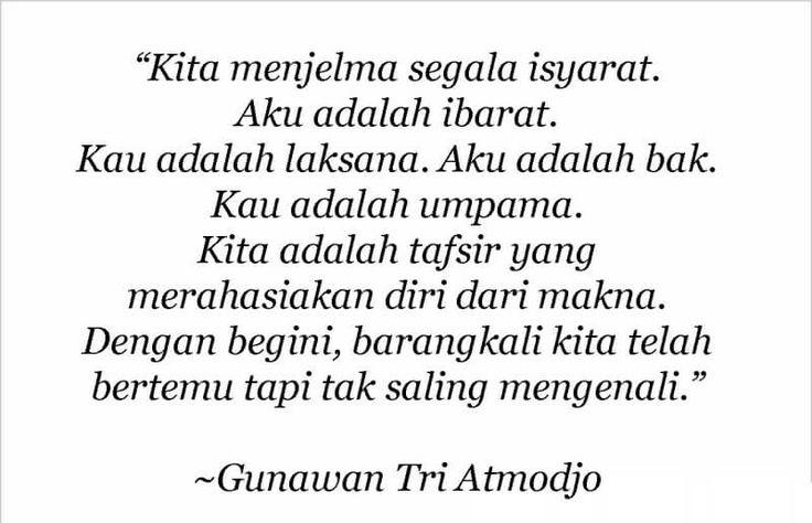 Puisi pendek. Kumpulan puisi. Gunawan Tri Atmojo.