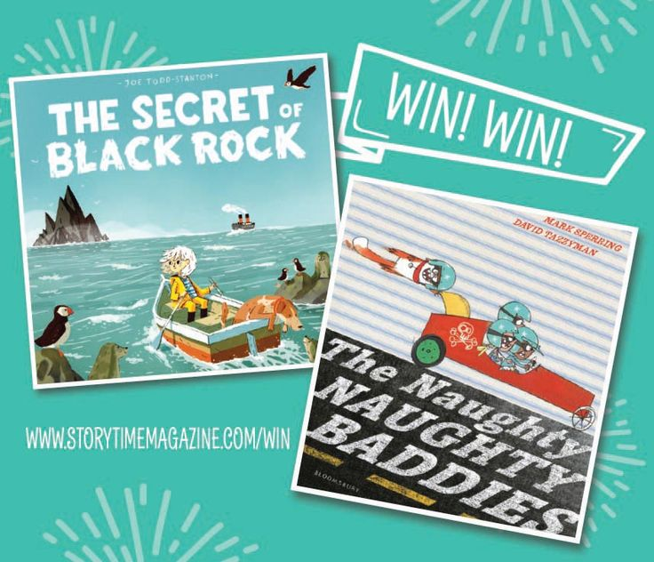 Our brilliant books of the month for March 2017: The Secret of Black Rock by Joe Todd-Stanton and The Naughty Naughty Baddies by Mark Sperring and David Tazzyman. Both beautifully illustrated and great fun too! Win them here: http://www.storytimemagazine.com/win