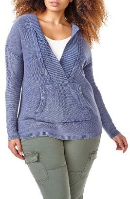 Shop Now - >  https://api.shopstyle.com/action/apiVisitRetailer?id=618141682&pid=uid6996-25233114-59 Plus Size Women's Addition Elle Love And Legend Acid Wash Hoodie Sweater  ...