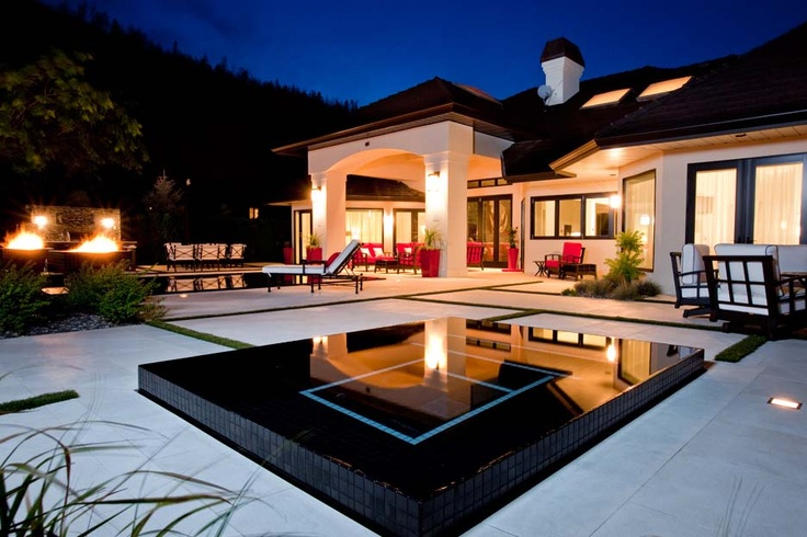 17 best negative edge spas images on pinterest pool spa for Pool design kelowna