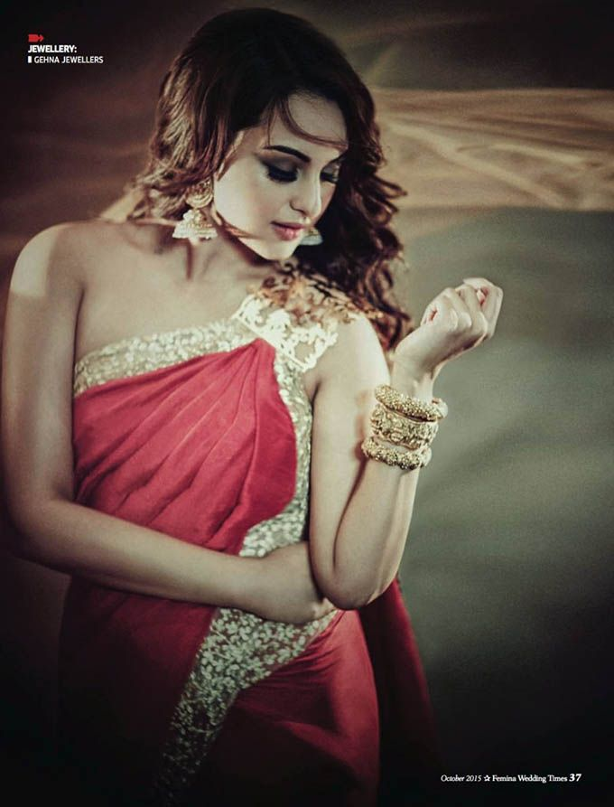 Sonakshi Sinha in #photoshoot for Femina Wedding Times October 2015.