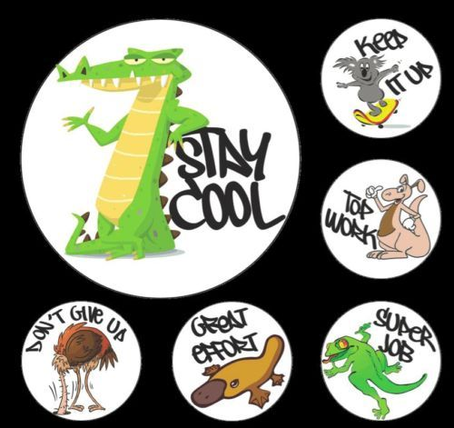 AUSSIE ANIMALS MERIT STICKERS (Pack of 96) - A positive approach to learning