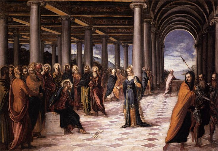 Christ and the Woman Taken in Adultery - Tintoretto