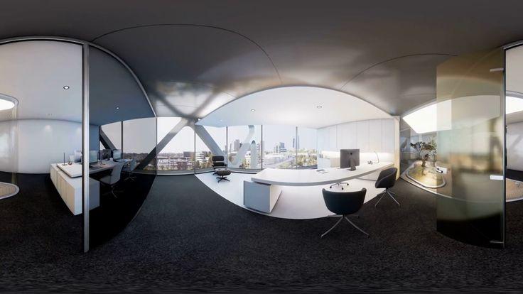 Recorrido de planta tipo para gafas de #realidadvirtual del #edificio #oxxeo #arquitectura #rafaeldelahoz #madrid #grupogmp