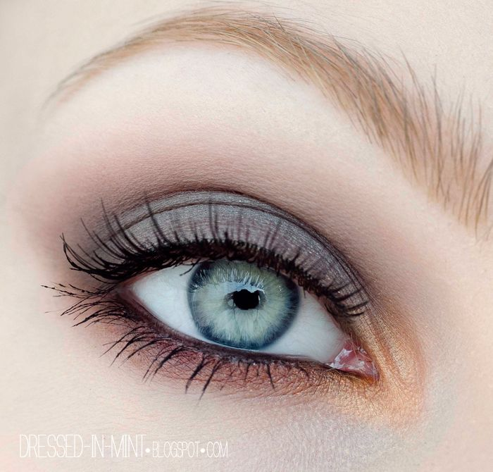 Dressed in Mint: makeup - prosty makijaż na STUDNIÓWKĘ / SYLWESTRA + TUTORIAL Meagan - I need you to translate this tutorial for the lid and crease color!