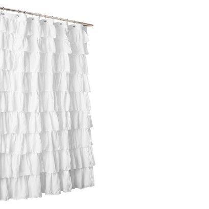 lush dcor large ruffle shower curtain