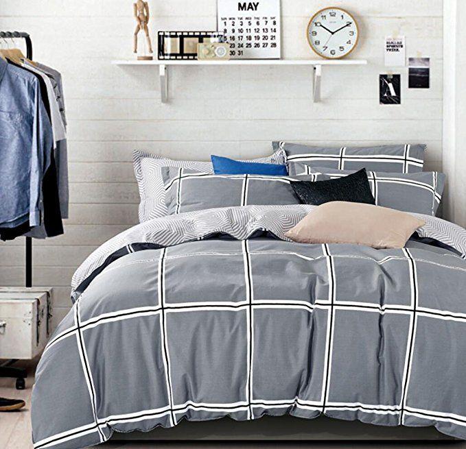 Eikei Home Minimal Style Geometric Shapes Duvet Quilt Cover Modern Scandinavian Design Bedding Set 100 Percen Bed Design Modern Scandinavian Design Bedding Set
