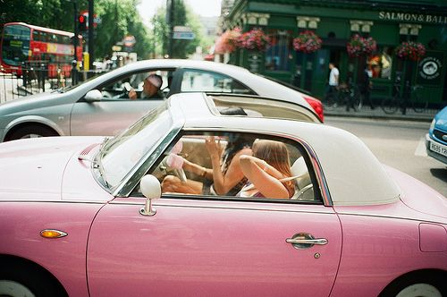 Pink Figgy: Photography Art Quotes, Pink Summer, Vintage Cars, Pink Cars, California Dreaming, Dream Vintage, Pink Rides, Girly Cars