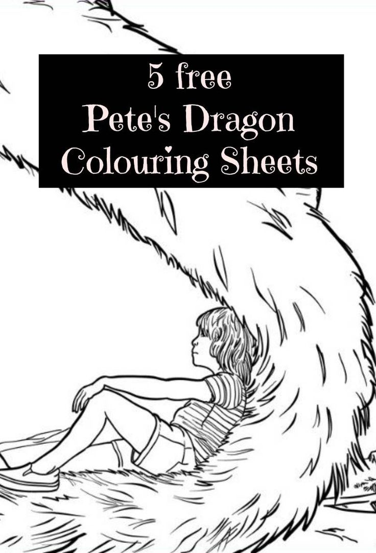 Free Pete's Dragon Colouring Sheets. So in love with the movie Pete's dragon? If you are then these free Pete's dragon coloring sheets will just be perfect for your kids (and you!) Free activities for Pete's Dragon fans also include a bookmark to make!