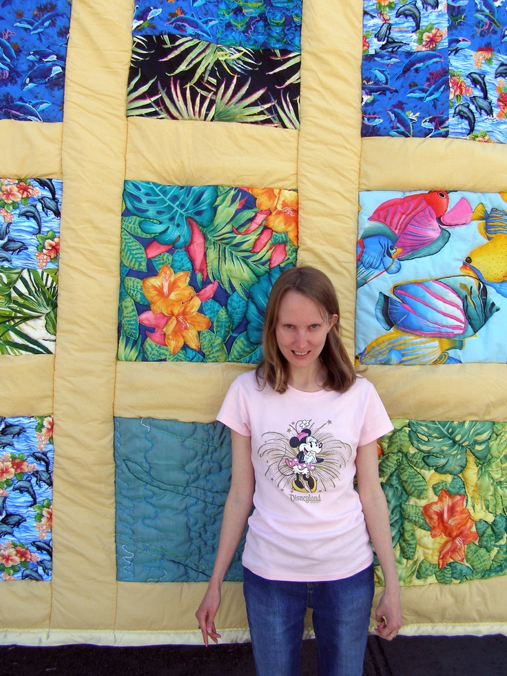 "2012 JC In-House Honorable Mention: Michelle Harris for her quilt ""Under the Sea"". #janecameron #disabilityart"