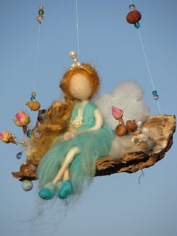 Needle felted waldorf inspired fairy by Made4uByMagic on Etsy