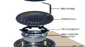 korean bbq charcoal stove fume extraction chute - Google Search