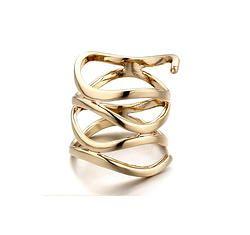 Gold Eternity Ribbon Band