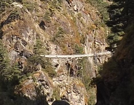 A close up of the bridge.
