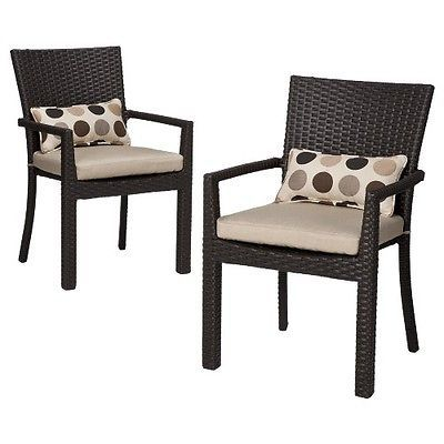 Superb Atlantis 2 Piece Wicker Patio Dining Arm Chair Set. Deal Price: $261.75.