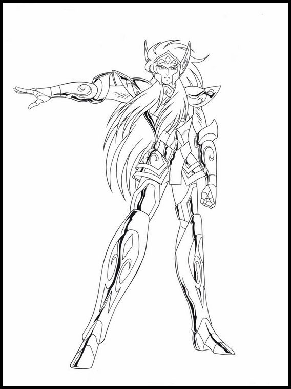 Printable Coloring Pages For Kids Saint Seiya Knights Of The