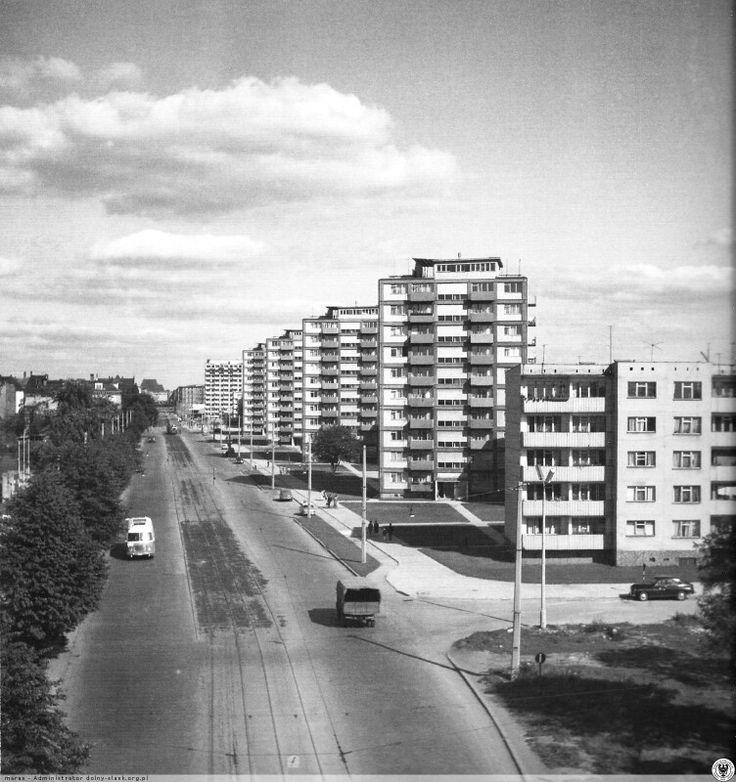 Grabiszyńska widok z wiaduktu 1966 rok