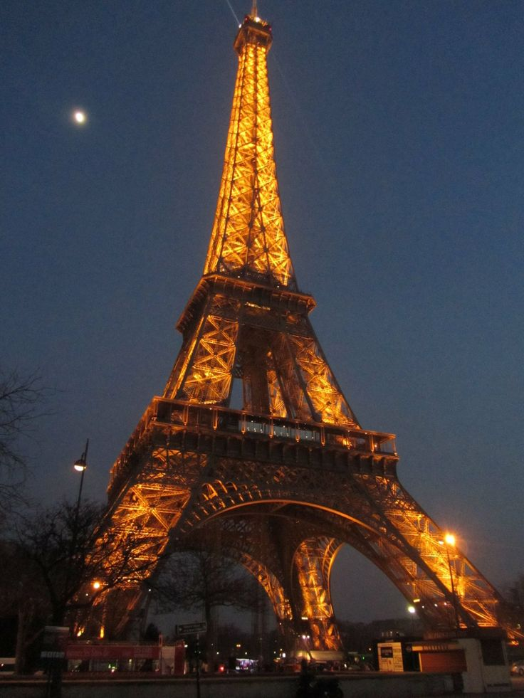 Eiffel tower at sundown