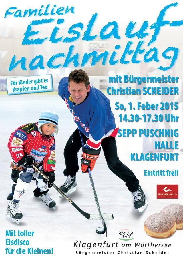Familieneislaufen 01. Feber 2015 in der Sepppuschnig-Halle in #Klagenfurt.