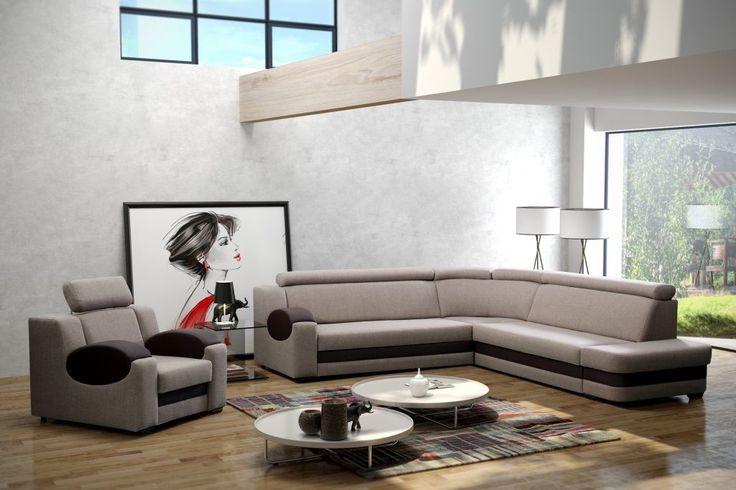 Modernes #Ecksofa Dorado Maße: Breite: 290 cm  Tiefe: 265 cm  Höhe: 85/99 cm  Schlaffläche: 202 cm x 125 cm Sessel: 96cm x 96cm x 85/99cm  Obige Preis gilt nur für die Eckcouch ohne Sessel ECKSOFA + SESSEL = 999 Euro  #Eckcouch #Couchgarnitur #Sofa