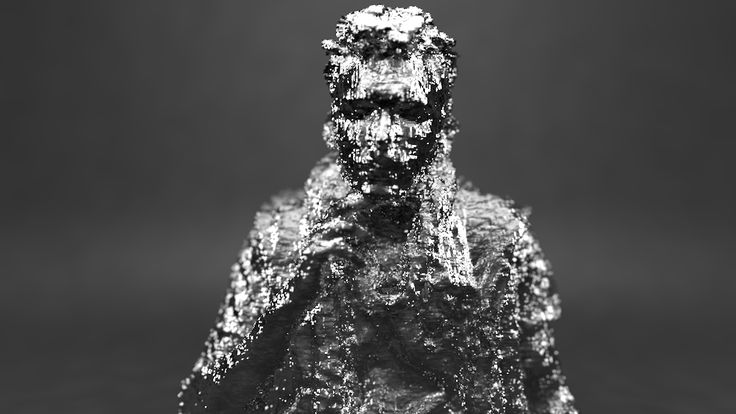 self portait: kinect fusion mesh data imported into cinema4d, by arlo emerson http://www.thedamagereport.com
